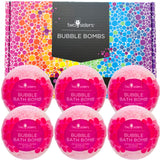 6 Japanese Cherry Blossom Bubble Bath Bombs Set - Two Sisters Spa