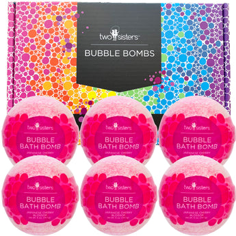6-pack Japanese Cherry Blossom Bubble Bath Bomb Set