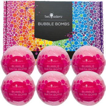 6 Rose Garden Bubble Bath Bombs Set