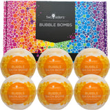 6 White Tea and Ginger Bubble Bath Bombs Set