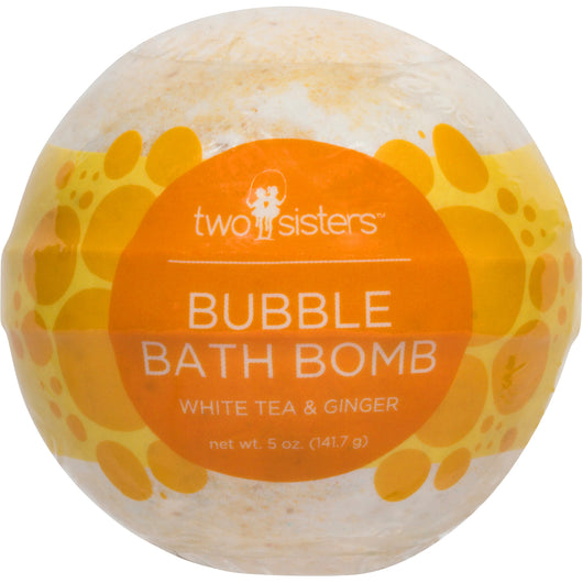 White Tea and Ginger Bubble Bath Bomb