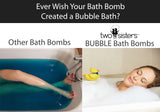 6 Black Raspberry Vanilla Bubble Bath Bombs Set - Two Sisters Spa