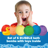 6 Kids Surprise Bubble Bath Bombs Set with Toys Inside for Boys and Girls - Two Sisters Spa
