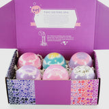 6 Floral Variety Bubble Bath Bombs Gift Set - Two Sisters Spa