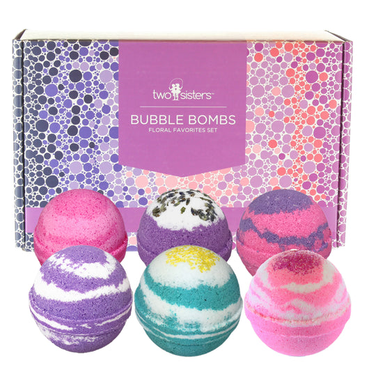 NEW 6 Bubble Bath Bombs - Floral Variety Gift Set