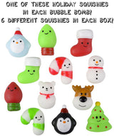 6 Christmas Surprise Bubble Bath Bombs Set - Two Sisters Spa