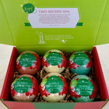 6 Christmas Surprise Bubble Bath Bombs Set