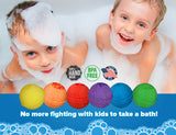 6-pack Kids Bubble Bath Bomb Set with Toy Surprises for Boys and Girls