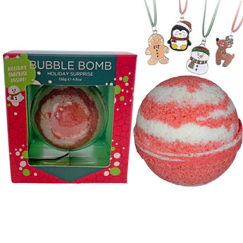 Christmas Surprise Bubble Bath Bombs for Girls - Holiday Necklace Hidden Inside!