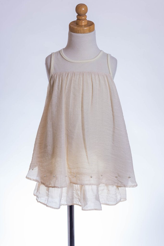 Mesh Neckline Two Tiered Tunic - Brass Pocket Boutique
