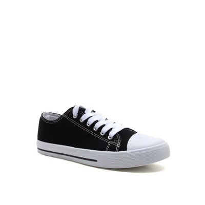 Black Canvas Sneakers - Brass Pocket Boutique