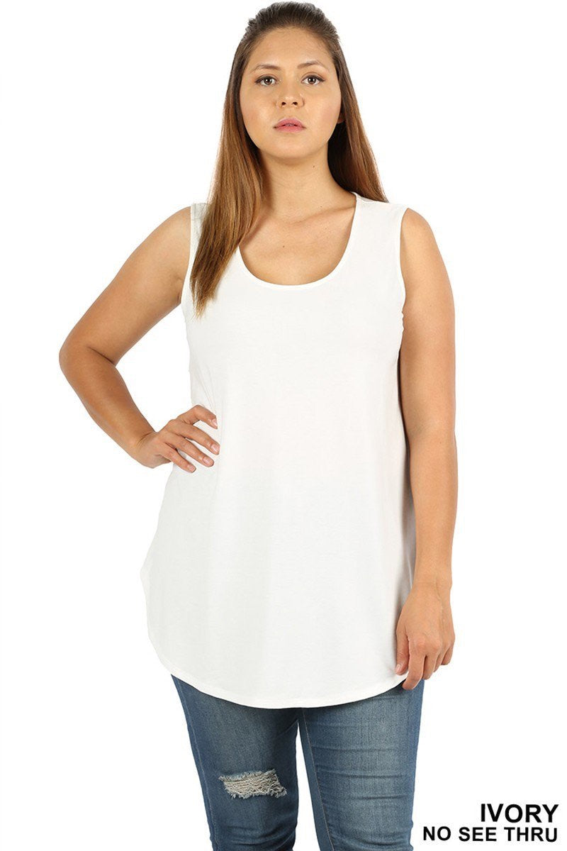 Ivory Plus Tank - Brass Pocket Boutique