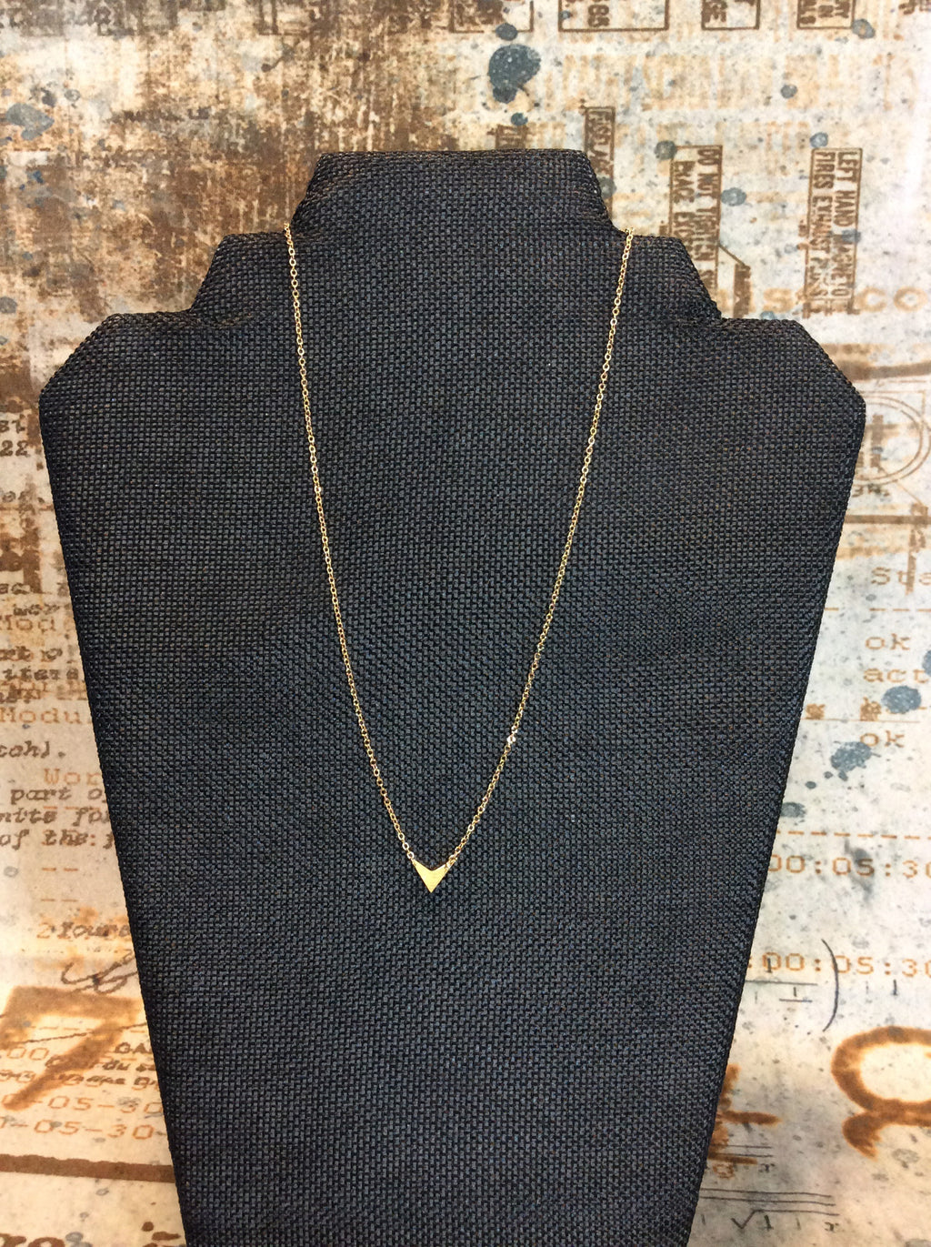 Gold V Necklace - Brass Pocket Boutique