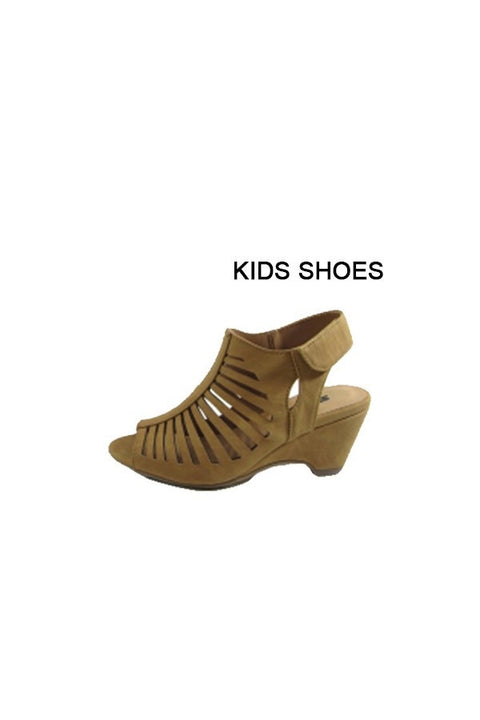 Girls Tan Wedge Sandal - Brass Pocket Boutique