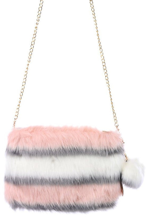 Fur Clutch - Brass Pocket Boutique