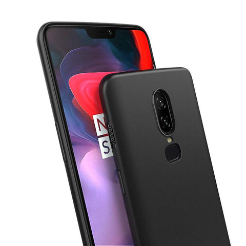 OnePlus 6 Case Soft Gel Matte Black - That Gadget UK