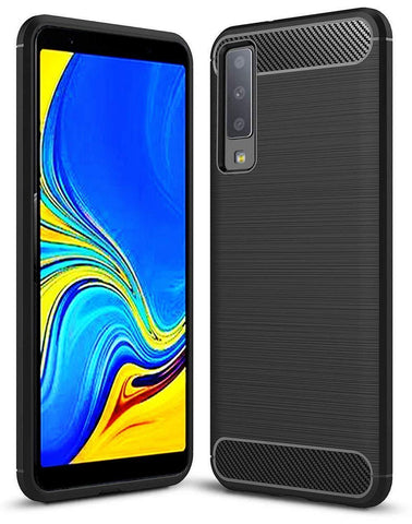 Samsung Galaxy A7 (2018) Case Carbon Fibre Black - That Gadget UK