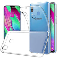 Samsung Galaxy A40 Case Clear Gel Cover & Tempered Glass Screen Protector - That Gadget UK