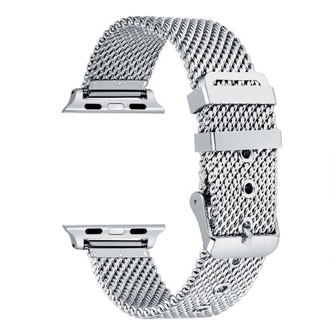 Apple Watch Stainless Steel Mesh Buckle Band (Series 1 - 5)