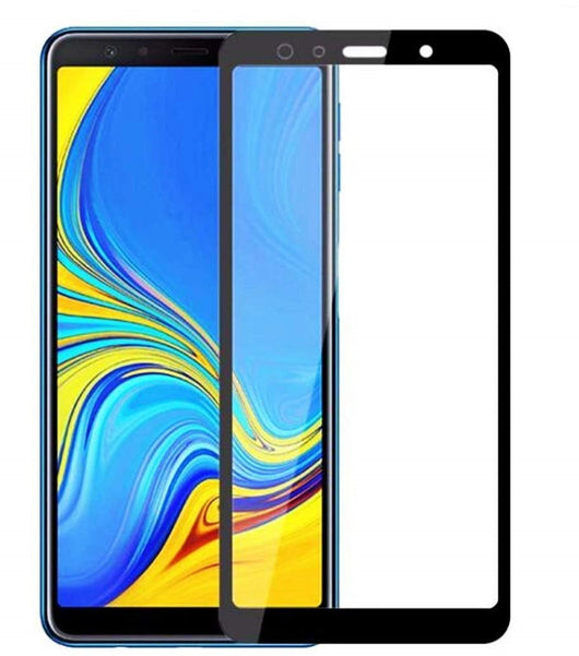 Samsung Galaxy A7 (2018) Tempered Glass Screen Protector Full Coverage - That Gadget UK