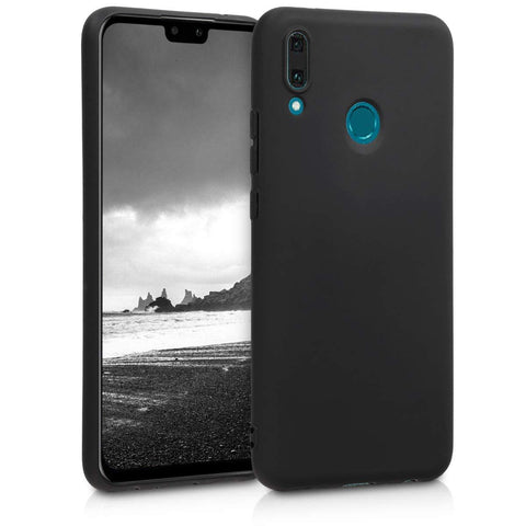 Huawei Y9 (2019) Case Soft Gel Matte Black - That Gadget UK
