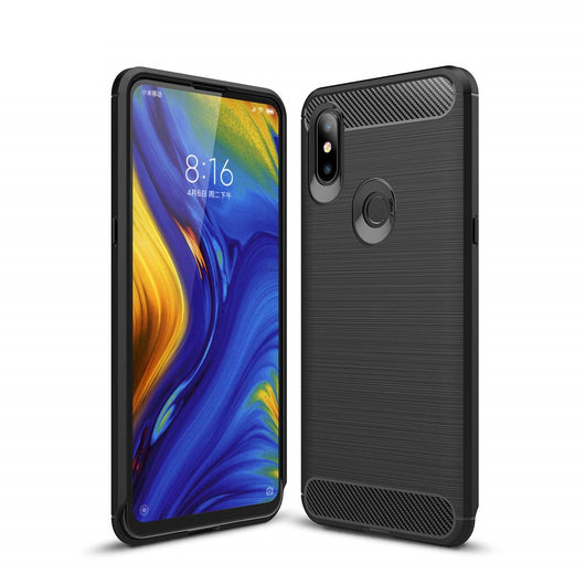 TGPro Xiaomi Mi Mix 3 Case Carbon Fibre Black