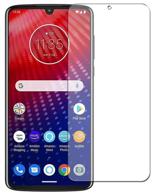 Motorola Moto Z4 Tempered Glass Screen Protector Guard (Case Friendly)