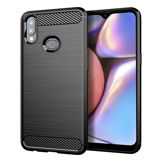 TGPro Samsung Galaxy A10s Case Carbon Fibre Black