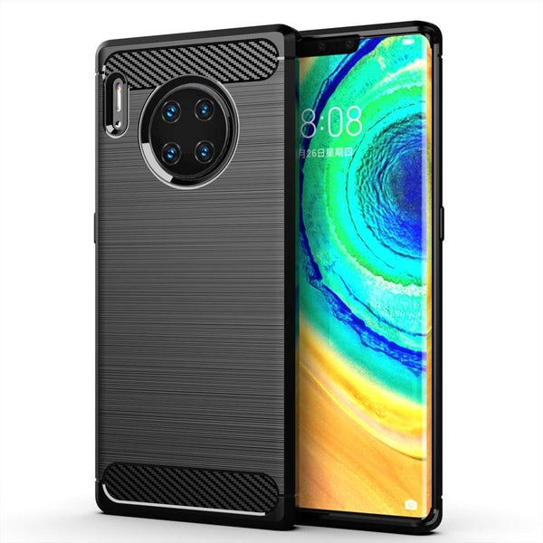 Huawei Mate 30 Pro Case Carbon Fibre Black