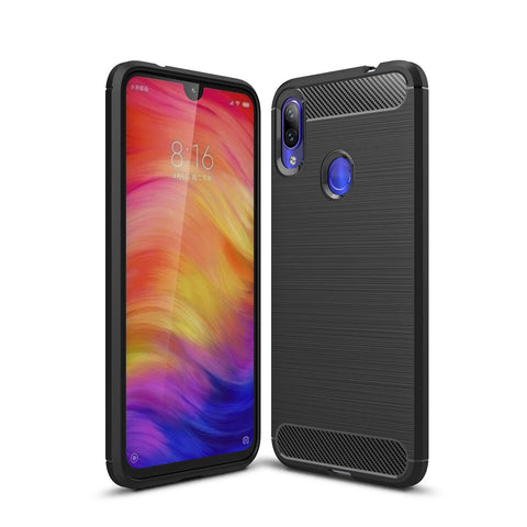 TGPro Xiaomi Redmi Note 7 Case Carbon Fibre Black
