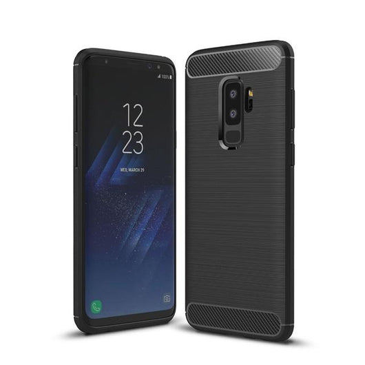 Samsung Galaxy S9+ Case Carbon Fibre Black - That Gadget UK