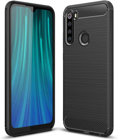 TGPro Xiaomi Redmi Note 8 Case Carbon Fibre Black