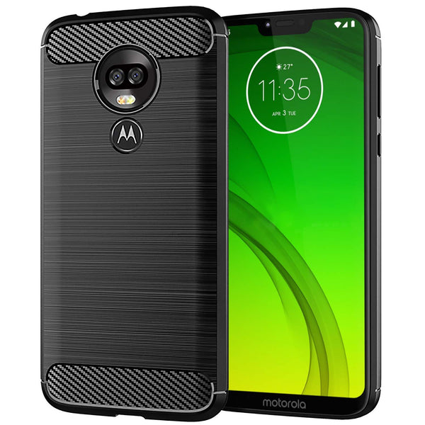 Motorola Moto G7 Power Case Carbon Fibre Black - That Gadget UK