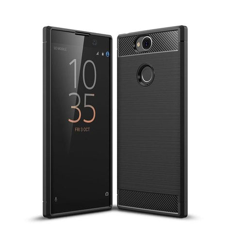TGPro Sony Xperia XA2 Plus Case Carbon Fibre Black