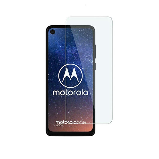 Motorola One Vision Tempered Glass Screen Protector Guard (Case Friendly)