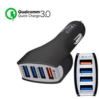 QC 3.0 Car Charger Quick Charge 36W Quad Port USB - That Gadget UK