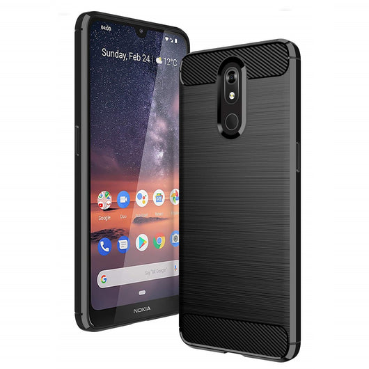 Nokia 3.2 Case Carbon Fibre Black