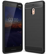 Nokia 2.1 Case Carbon Fibre Black - That Gadget UK