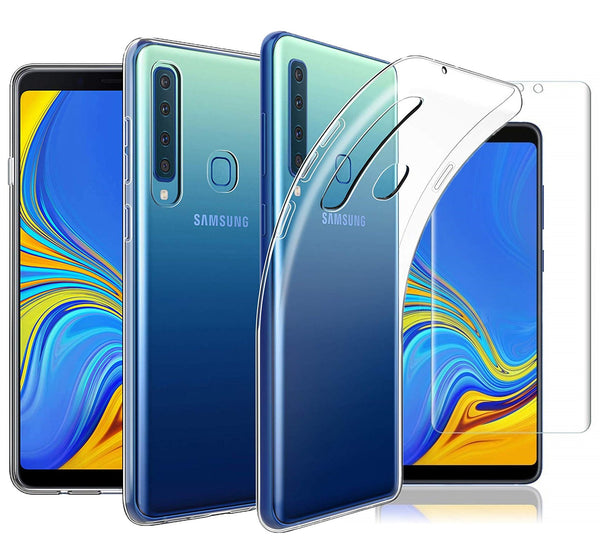 Samsung Galaxy A9 (2018) Case Clear Gel & TPU Screen Protector - That Gadget UK