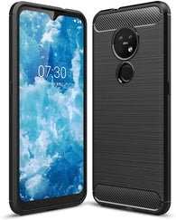 Nokia 6.2 Case Carbon Fibre Black