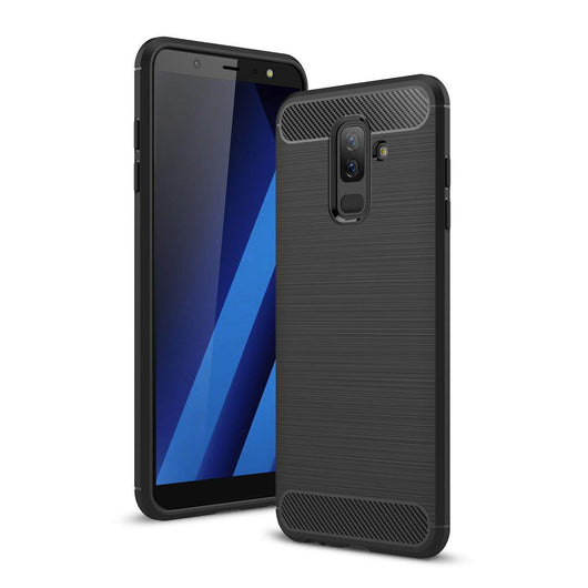Samsung Galaxy A6+ (2018) Carbon Fibre Black - That Gadget UK