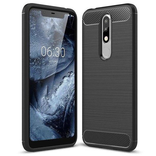 Nokia 5.1 Plus Case Carbon Fibre Black - That Gadget UK