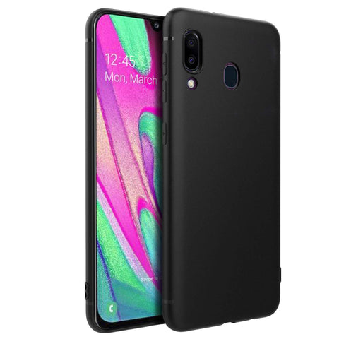 Samsung Galaxy A40 Case Soft Gel Matte Black - That Gadget UK