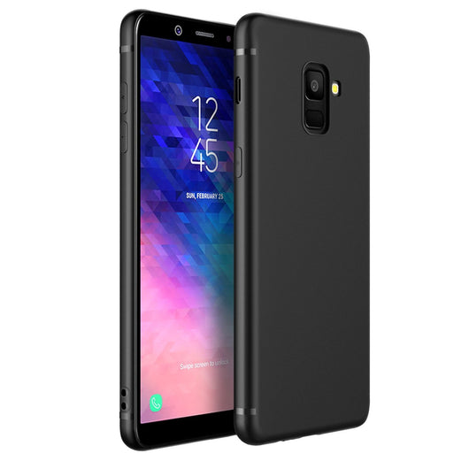 Samsung Galaxy A6+ (2018) Case Soft Gel Matte Black - That Gadget UK