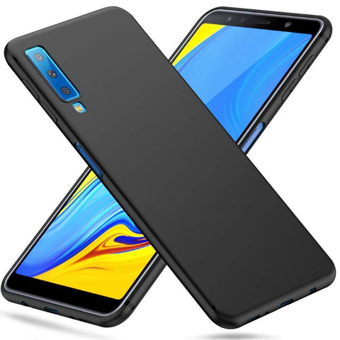Samsung Galaxy A7 (2018) Case Soft Gel Matte Black - That Gadget UK
