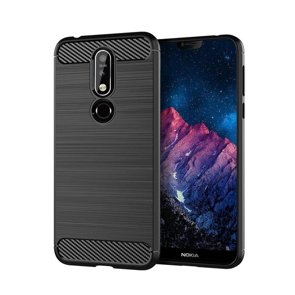 Nokia 7.1 Case Carbon Fibre Black - That Gadget UK