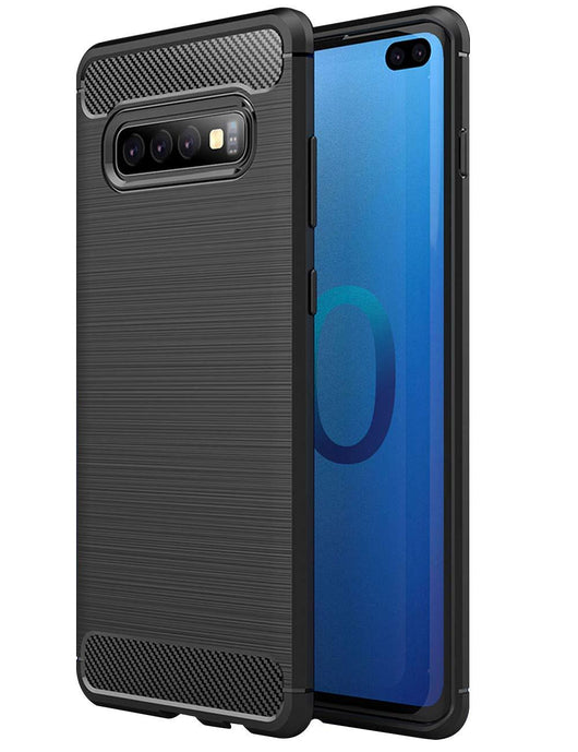 Samsung Galaxy S10+ Case Carbon Fibre Black - That Gadget UK