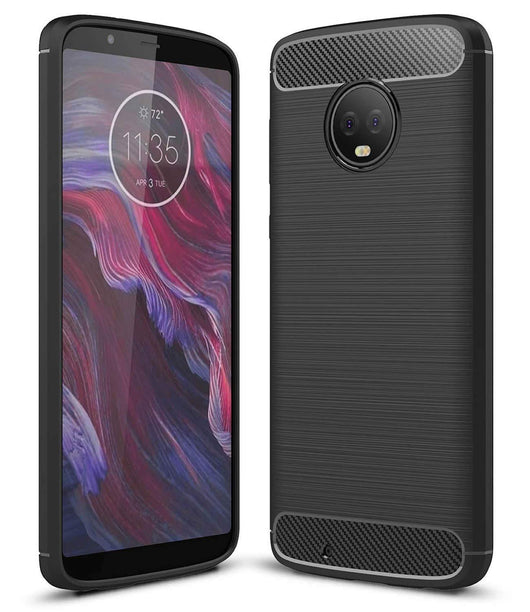 Motorola Moto G6 Plus Case Carbon Fibre Black - That Gadget UK