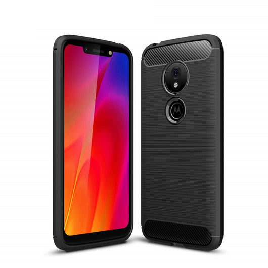 Motorola Moto G7 Play Case Carbon Fibre Black - That Gadget UK