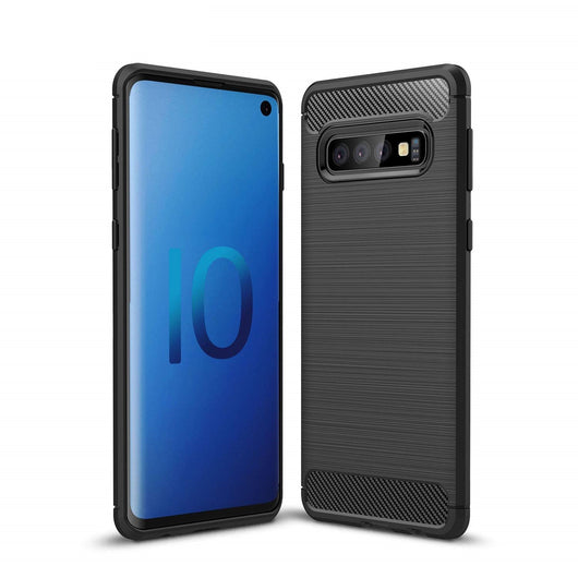 Samsung Galaxy S10 Case Carbon Fibre Black - That Gadget UK